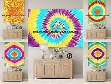 Indian Wall Hanging Yoga Mat 10 PC Wholesale Lot Tapestry Tie Dye Spiral Decor