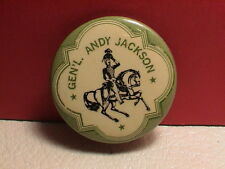 GENERAL ANDREW JACKSON ON HORSE UNIFORM CIVIL WAR ARMY MILITARY REPLICA PIN BACK