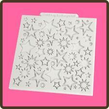 """4"""" Tappetino in Silicone Design Torta Fondente Glassa Pasta di Zucchero Stampo artigianale: a stella"""