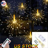 Remote Control Waterproof Firework LED Copper Wire Strip String Lights Party New