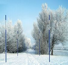 50x Driveway Markers Snow Stakes 1/4Inchx 48Inch Long Blue Reflective Markers