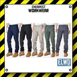 ELWD   Elwood Workwear   MENS WORK PANTS   Black, Navy, Khaki, Army (wp1 EWD102)