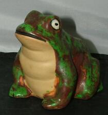 "Antique Weller Coppertone Art Pottery Large 4"" Frog Figurine Rare Large Size"