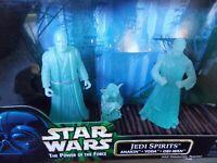 Star Wars Power of the Force POTF Jedi Spirits Anakin Yoda Obi-Wan 1998 NEW MISB