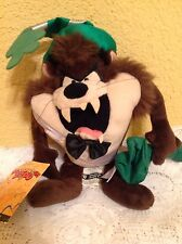 TAZ 1999 WARNER BROS STUFFED PLUSH BEANIE 2000 MILLENNIUM LOONEY TUNES TOY