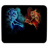 Tiger Fight Gaming Mouse Pad Antiskid Rectangular Rubber Mousepad For Laptop
