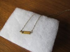 Vintage WELLS Sterling 12K gold filled bar with stone Wells Ster 1922