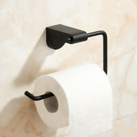 Stainless Steel Toilet Paper Roll Holder Bathroom Single Rail Rack Wall Mounted