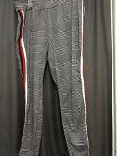 Ultra Flirt Plus Women Wide WB Skinny Ponte Pant 3X RED/Wht/Blk Stripe NWT