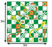 Garden Games 507 Giant Snakes and Ladders 3m x 3m Mat