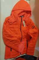 New Rrp£89.99 XL Size Womens Superdry Hooded Box Quilt Fuji Jacket Red pink coat