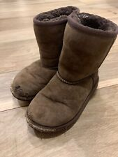 UGG Australia Girl Toddler Classic Short Boots Suede Brown  5251T Sz 11