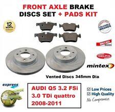 FOR AUDI Q5 3.2 FSi 3.0 TDi quattro 2008-2011 FRONT BRAKE PADS + DISCS SET 345mm