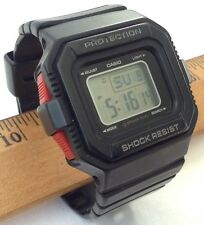 CASIO G SHOCK MINI GMN-550 10 BAR SQUARE BLACK RED RARE HTF GMN550 NEW BATTERY