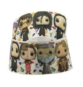 By The Yard 7/8 Inch Cute Printed Harry Potter Characters Grosgrain Ribbon Lisa