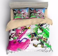3D Print Splatoon Game Bedding Duvet Cover Sets Quilt Cover with Zip Pillow Sham
