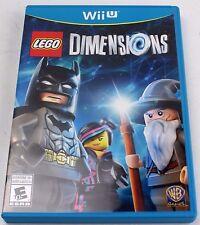 * LEGO Dimensions Nintendo WiiU Wii U Game Art Work & Case   *  Free Ship  👾
