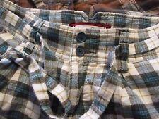 Lot of 2 Hollister Women's 100% Cotton Plaid Flannel Drawstring Shorts Size 5