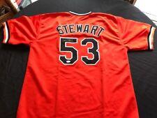 Sammy Stewart Baltimore Orioles Signed Custom Orange Jersey JSA Witness
