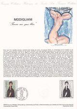 Document philatélique 35-80 1er jour 1980 Modigliani Femme aux yeux bleus