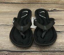 🔥NEW! NIKE Solarsoft Comfort Thong Flip Flops Sandals Black White Anthracite🔥