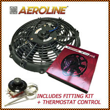 "16"" Aeroline® Electric Radiator Cooling Fan + Thermostat MUSTANG, CHEVY, DODGE"