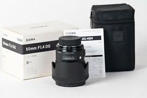Sigma 50mm f/1.4 DG HSM Art Lens Nikon F with ORIGINAL BOX / CASE