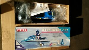 RC cen jet ski WAVE SHARK RTR / Vintage and rare nitro boat