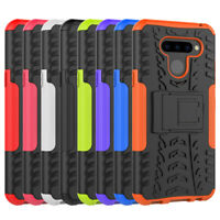 Rugged Hybrid Armor Shockproof Armor Hard Case Stand Cover For LG Q60 / K50