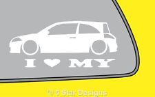 2x LOVE LOW Renault Megane sport 16v Mk2 Renault Sport 225 sticker Decal LR299