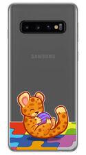 Funda Gel Transparente para Samsung Galaxy S10 diseño Leopardo Dibujos