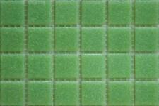 75 MAT GRASS VERT vitrifiée verre mosaïque 20mm Tuiles A23