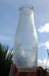 milk bottle lovely early Shingles of Wallington LONDON : dairy