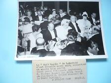 PHOTOGRAPHIE DE PRESSE 1938  PARIS NUIT ROYALE A LONGCHAMP M. BONNET ET RUCART