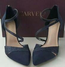 Carvela Luna 2177684799 Navy Blue Suedette Shoes Kurt Geiger RRP £99 Size 39 6UK