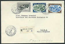 1957 VATICANO FDC ACCADEMIA DELLE SCIENZE NO TIMBRO ARRIVO - F