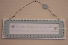Friend Plaque it's Not Where You Are in Life It's Whose With You Green  F1509B