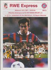 Orig.PRG    15.01.1997   FC ROT WEISS ERFURT - FC BAYERN MÜNCHEN  !!  SELTEN