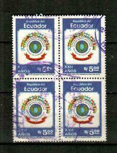 ECUADOR Scott's 1026 ( 4v ) Air Forces Cooperation System F/VF Used ( 1982 )