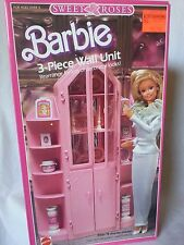 RARE 1987 SWEET ROSES 3 PIECE WALL UNIT FURNITURE PLAYSET BARBIE DOLL NEW NRFB