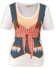 Cowgirl shirt Fun-shirt Cowgirl farwest taille s mardi gras carnaval déguisé