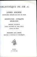 catalogue de vente livres anciens,reliures aux armes,à dentelles,mosaïquées