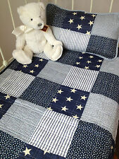 3 pce Baby Boys Twinkle  Cot Quilt  / Fitted Sheet / Pillow Angads Nursery Set
