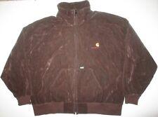 Carhartt Vintage Velour Full Zip Lined Jacket Men's 4XLarge 751 Brown