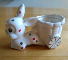 Vintage Bunny Egg Cup Polka Dots made in Japan
