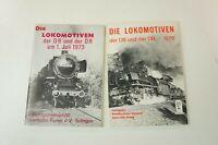 2x die Lokomotiven der DB und DR 1973 und 1976 Eisenbahnkurier K-1596