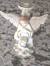 "Angelic Song by Betty Singer,  6 "" tall , candle holder"
