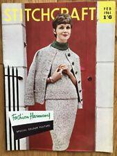 Vintage Stitchcraft Magazine. February 1961