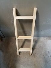 """24"""" Decorative Wooden Ladder UNFINSHED Do it yourself"""