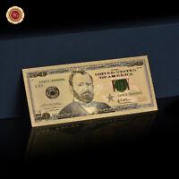 WR 2013 US $ 50 Dollar-Schein Farbige Gold überzogene Amerika-Banknote Collect